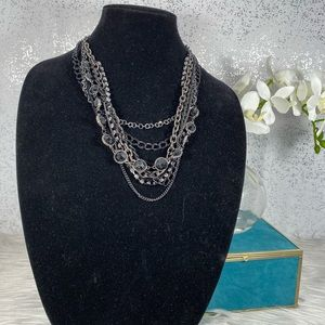 🆕 Simply Vera Wang Black Multi Layered Necklace